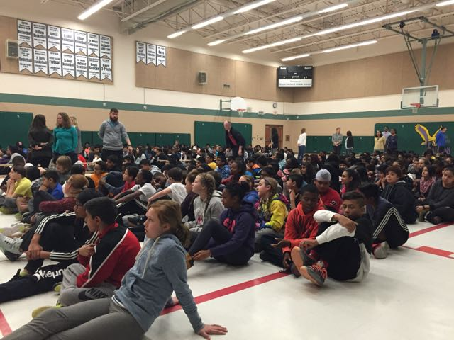 Assembly at Royal Orchard Middle School