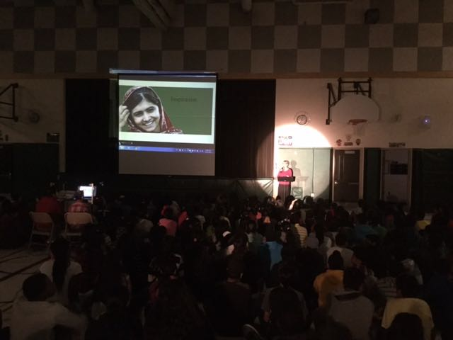 Presenting at Lougheed Middle School