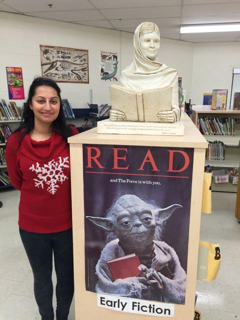 Librarian Raman Bhatia at Terry Fox Public School