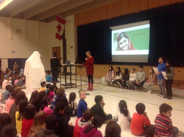 Presenting at Munden Park School