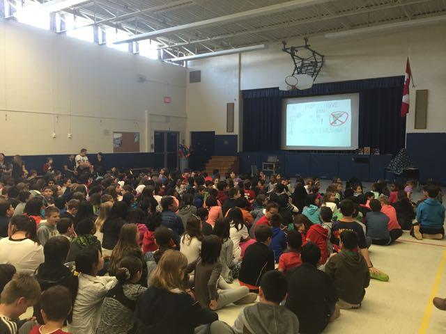 Assembly at Burnhamthorpe Public School
