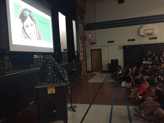 Presenting at Allan A. Martin Sr. Public School
