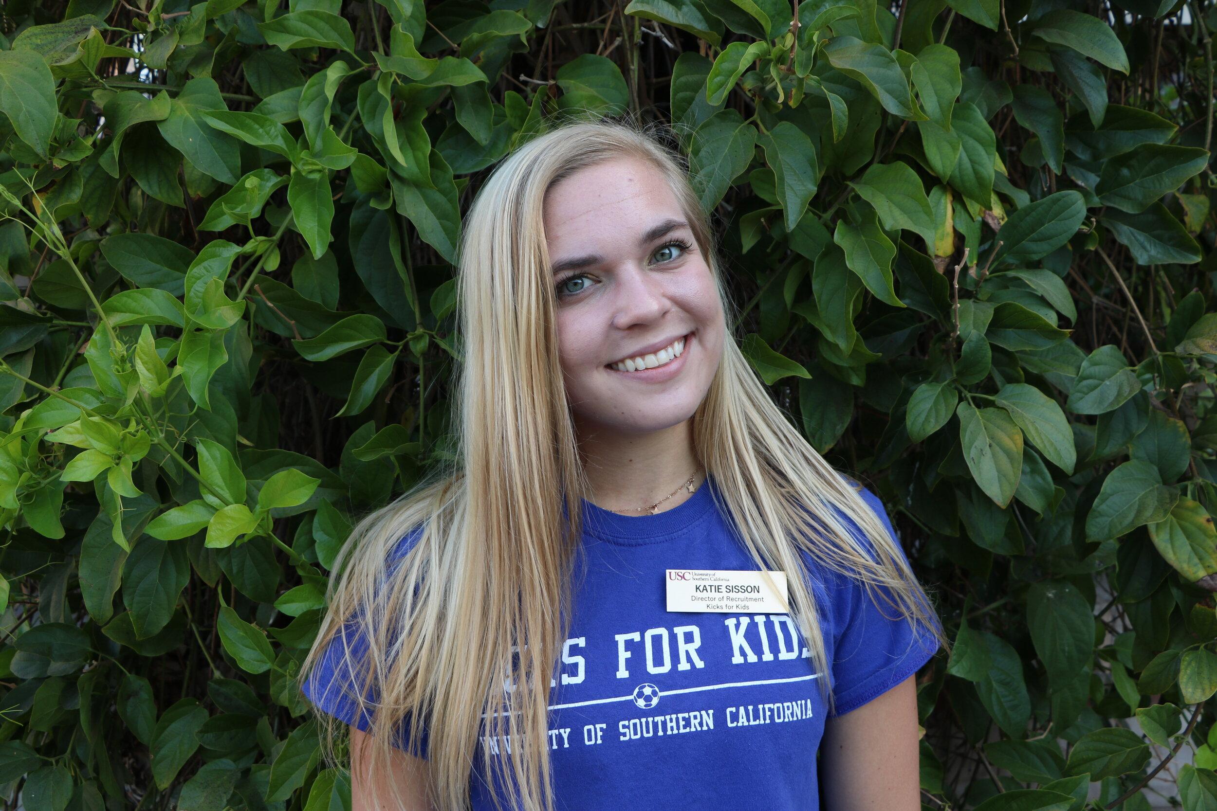Katie Sisson,  Director of Recruitment   Major:  Human Biology