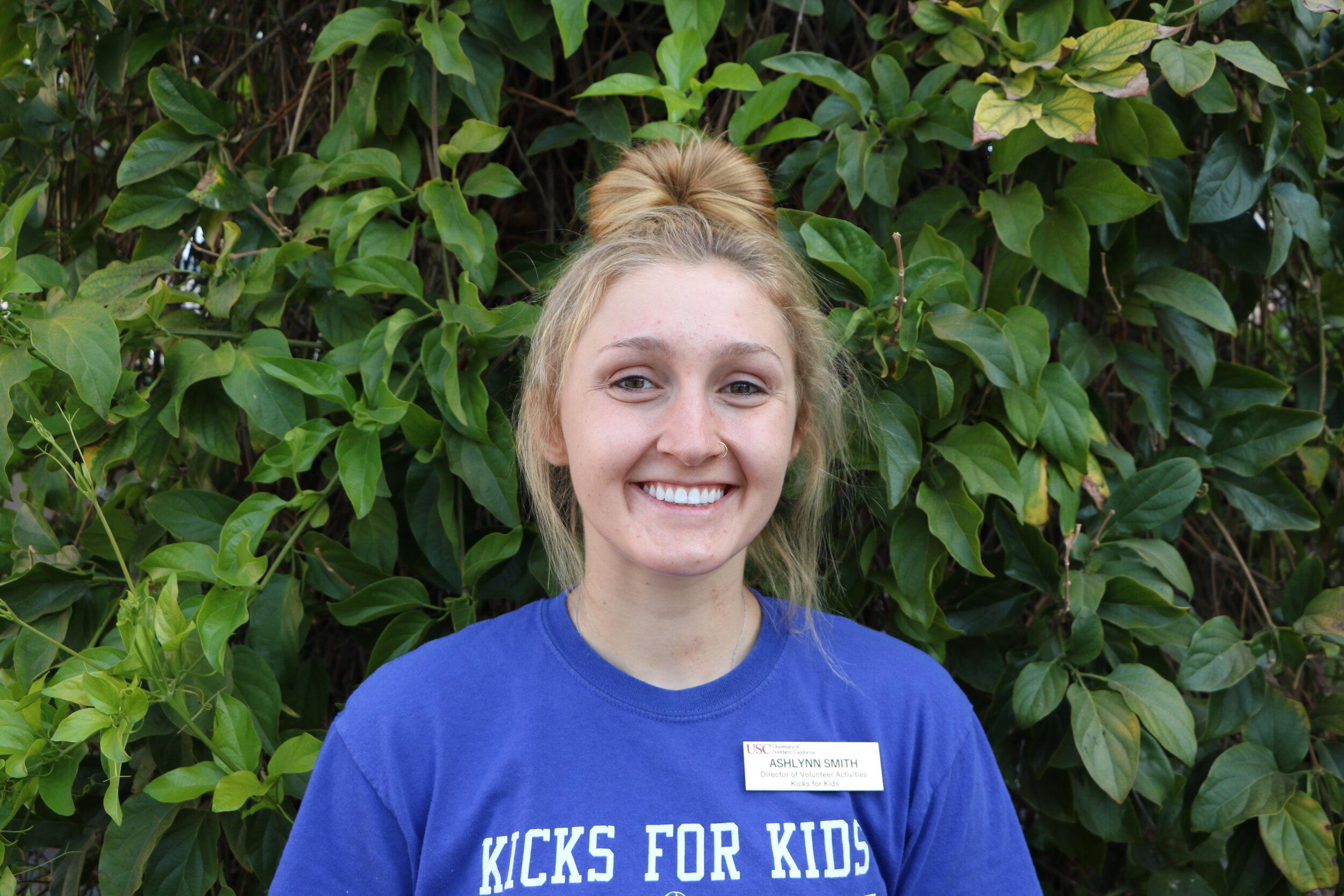 Ashlynn Smith,  Director of Volunteer Activities   Major:  Chemical Engineering