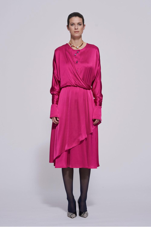 pink satin -