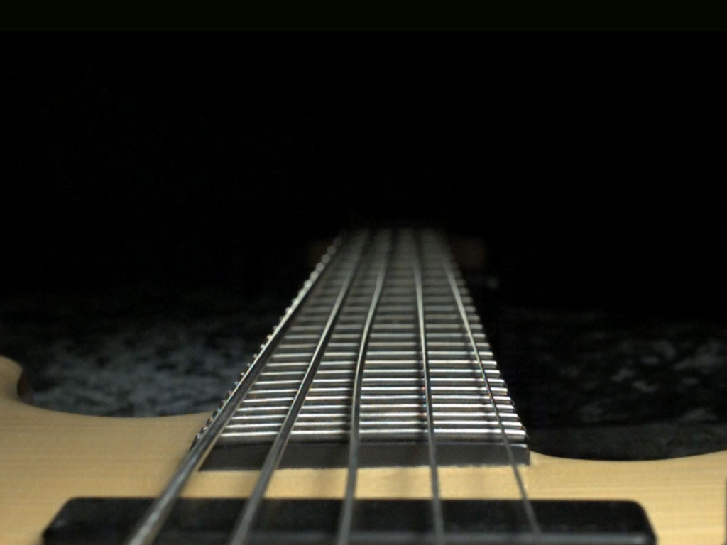 For our article on the custom bass guitar we filmed the strings of an Overwater bass in super slow motion: the visual effect led people to think the strings had been detuned.
