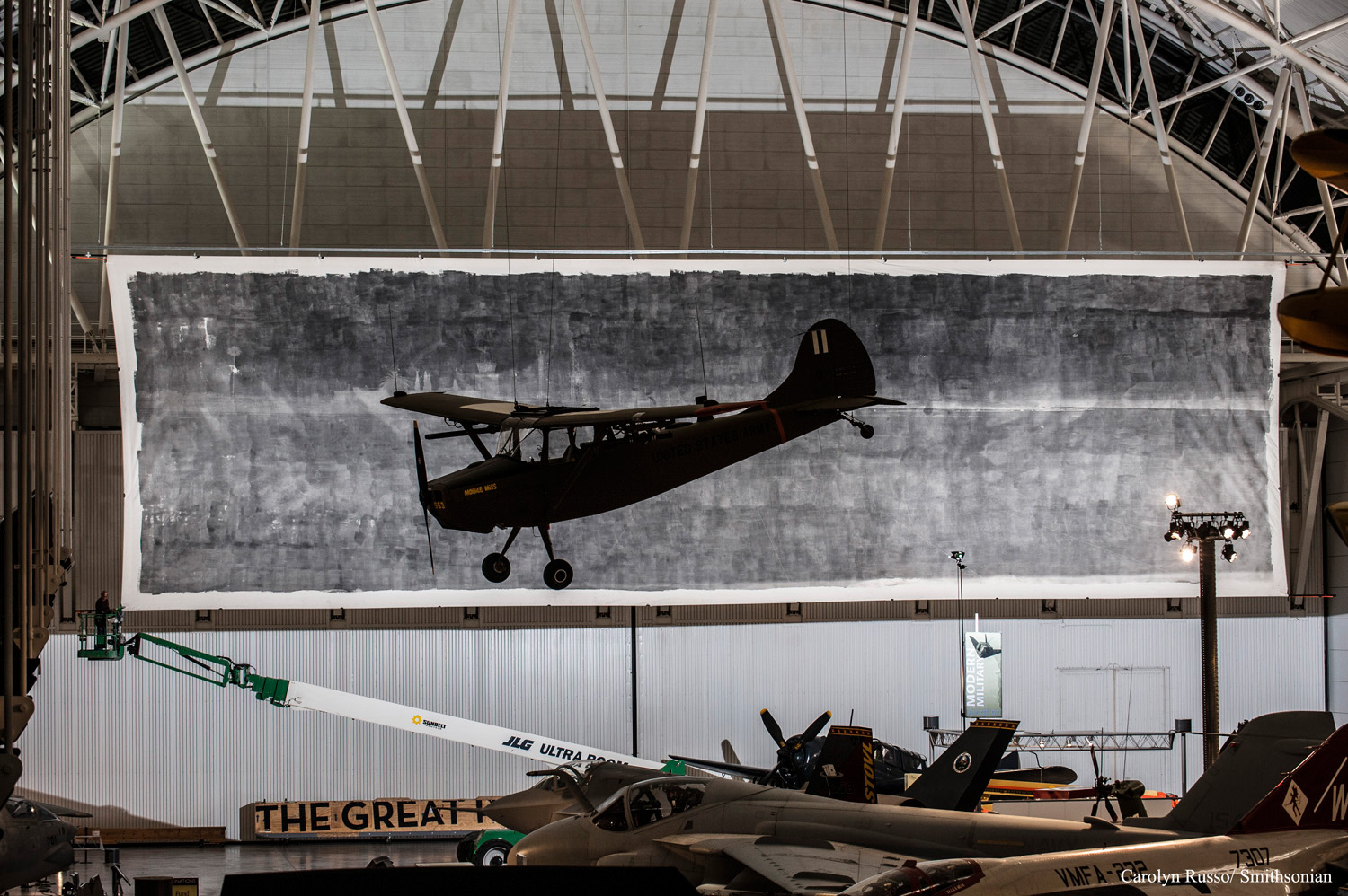 The Great Picture on view at the Smithsonian National Air and Space Museum 2014. (Udvar-Hazy Center)