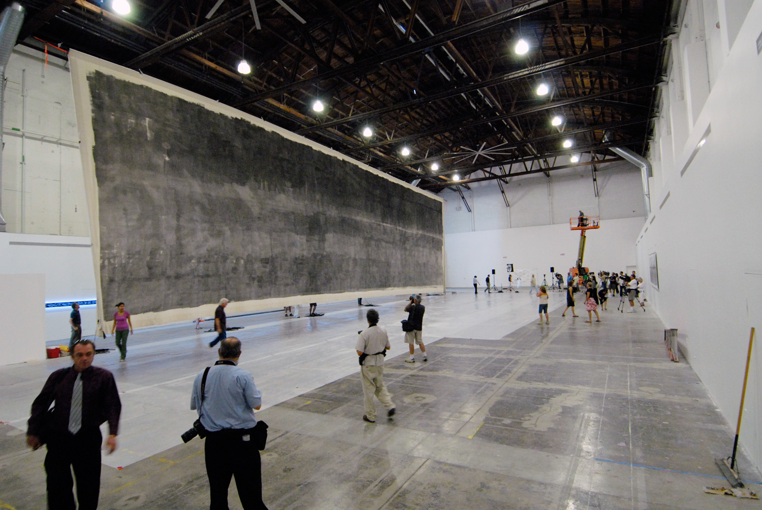 The Great Picture exhibited for the first time. There are only about 20 sites in the world large enough to display the Great Picture completely unrolled.
