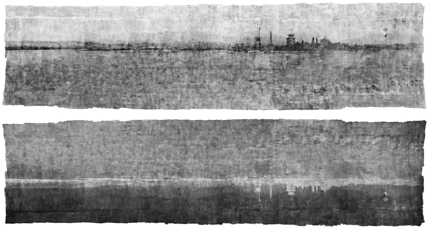 A remarkable object - the hand-applied emulsion and camera obscure approach reach back to the beginnings of photography, marking a complete circle as film-based images are replaced by pixels.