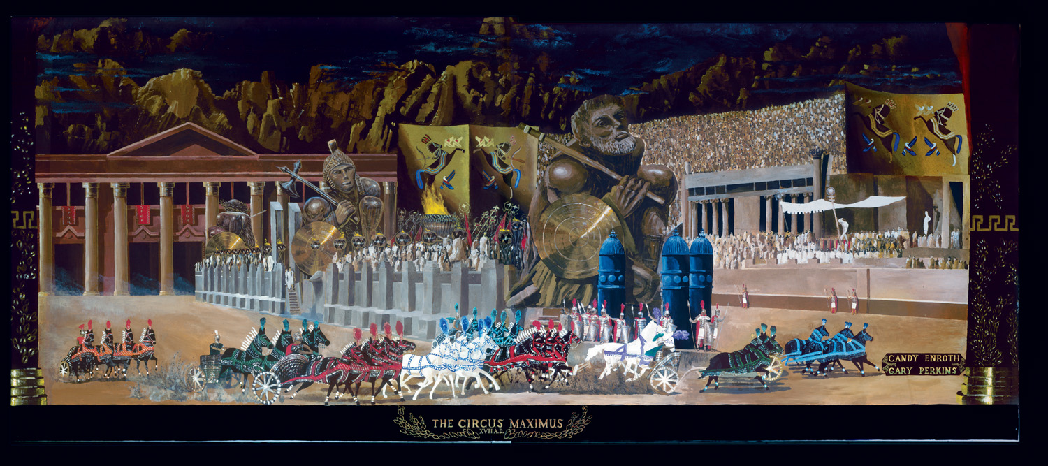 Circus Maximus - a 10' by 20' mural painted by military personnel in building #94, circa 1992