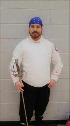 Brad Cramer JR - Brad is the founder of the University of West Florida Fencing Club in 2004 and for the past 4 years has been the club instructor. His area of expertise is Italian rapier and English backsword, but he is also fairly versed in longsword, saber, dussack, and ringen. Brad participates heavily in the Society for Creative Anachronism, having achieved it's highest recognition for fencing.