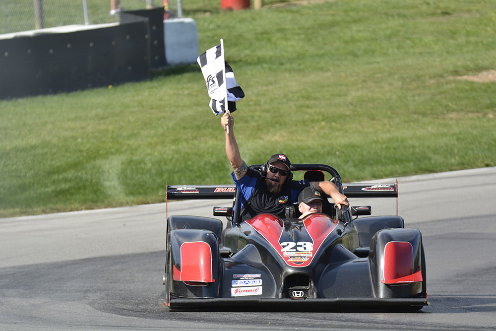 Victory lap at Mid-Ohio Runoffs