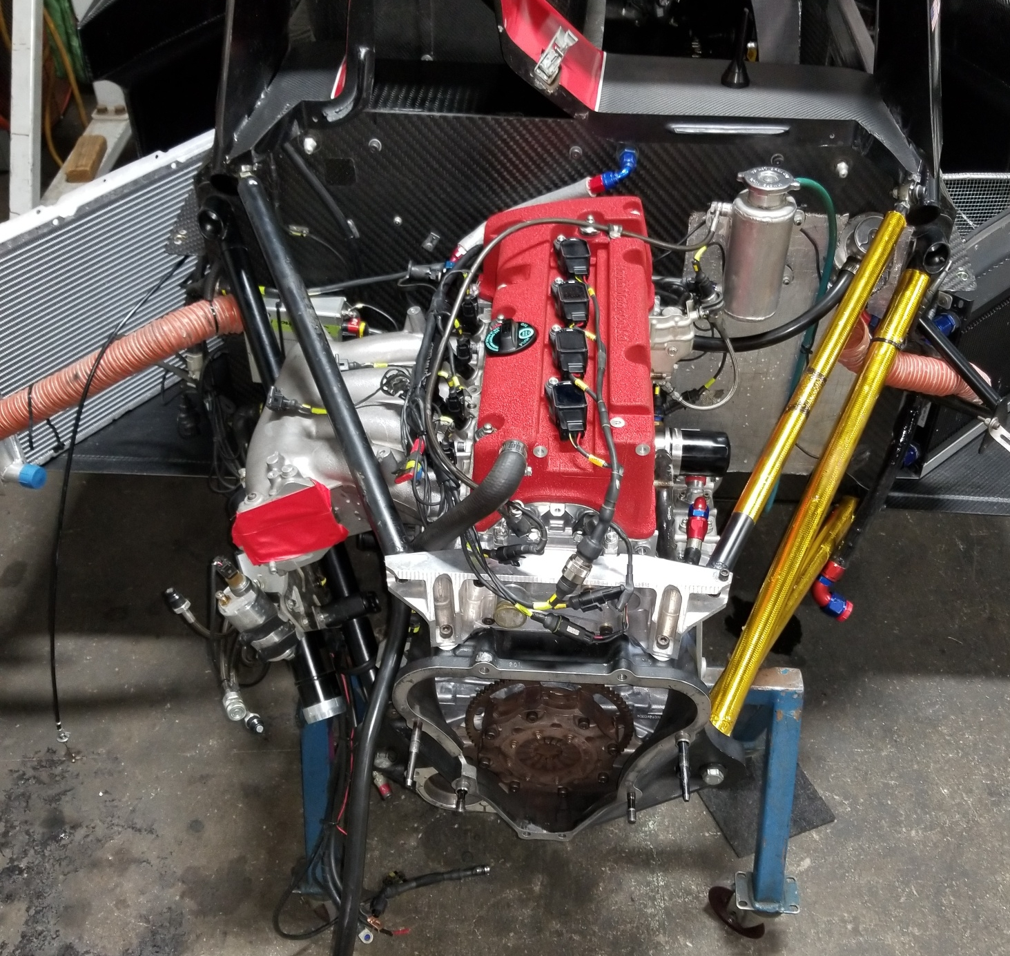 New rule compliant engine being installed
