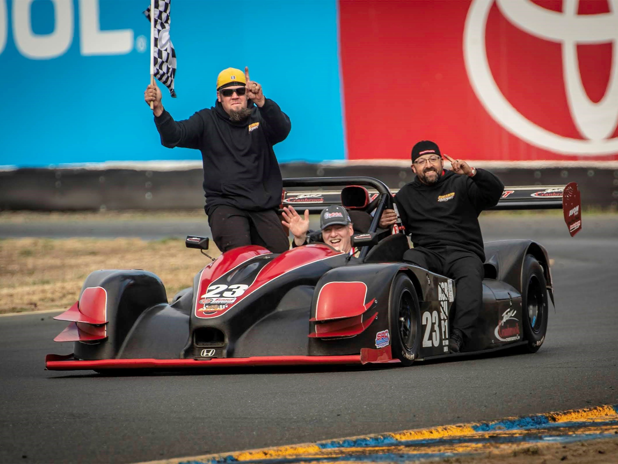 Victory lap at Sonoma Runoffs