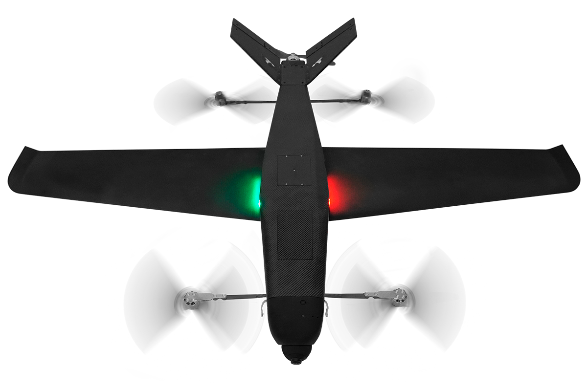 VTOL configuration - a big rotor disc area for efficient VTOL and hover