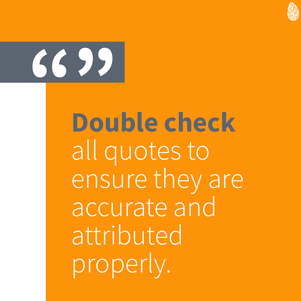 double check marketing quotes
