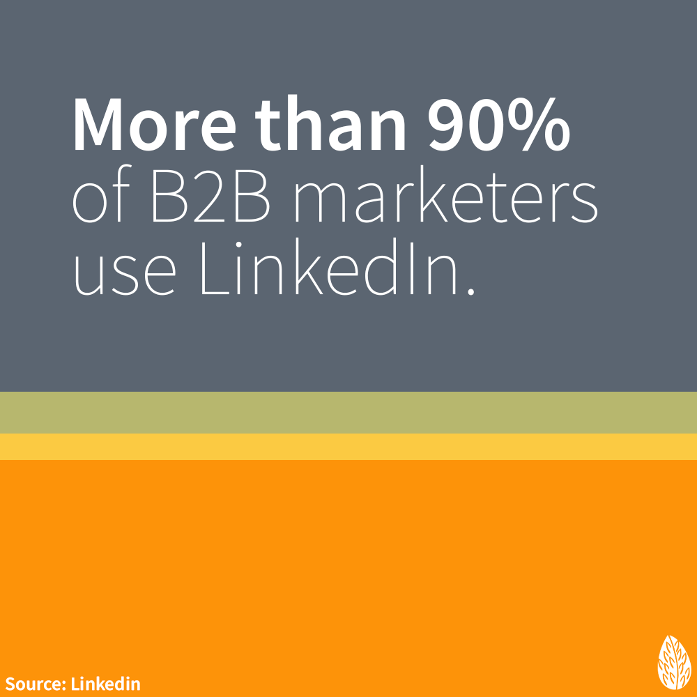 B2B marketers use LinkedIn