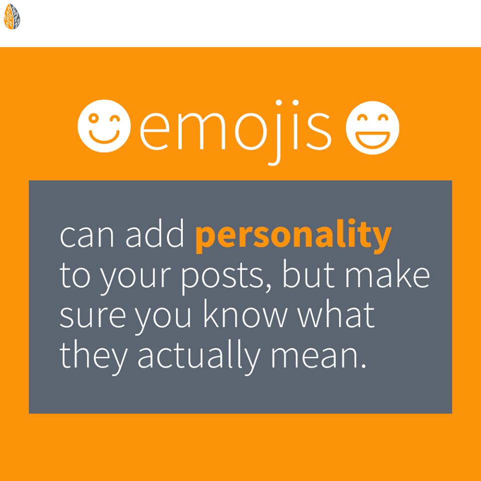 Use emojis in social media