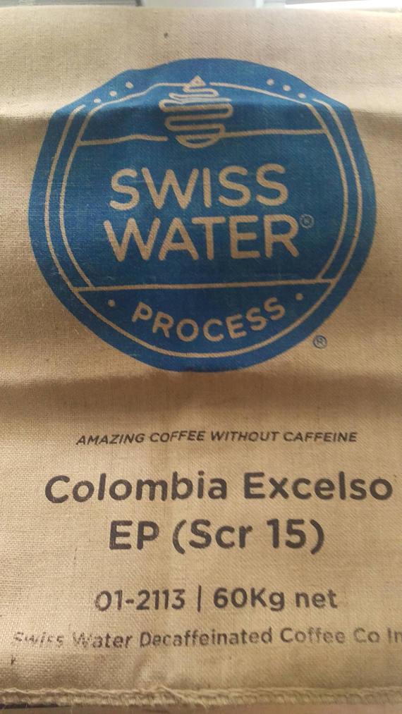 Usda Organic Fair Trade Coffee - Tatama Excelso - Swiss Water Decaffeinated Colombia - Sack