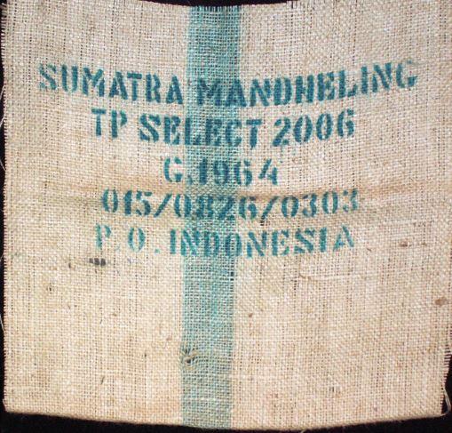 Usda Organic Fair Trade Coffee - Mandheling Sipangan Bolon Sumatra - Sack