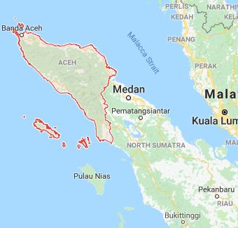Usda Organic Fair Trade Coffee - Aceh Ketiara - Map