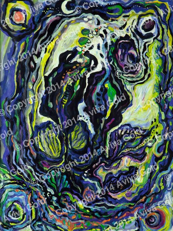 Sea Gift   Tempera on Paper   Aviva Gold, 1994