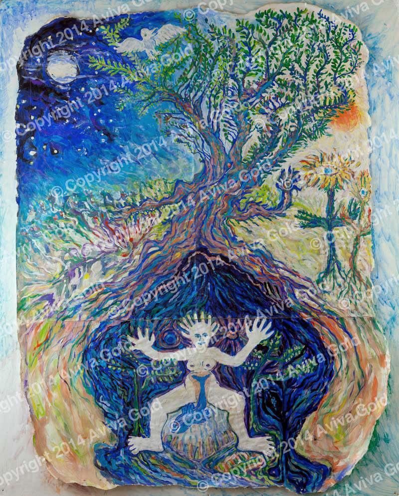 Nature Spirits   Tempera on Paper   Aviva Gold, 1994