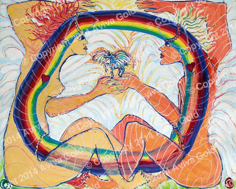 Love Ecstasy   Tempera on Paper   Aviva Gold, 1983