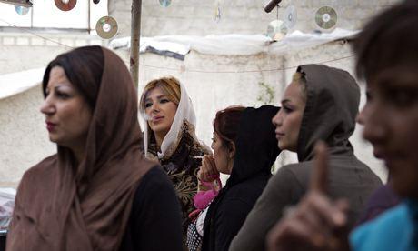 Women at a crystal meth rehab centre on the western outskirts of Tehran. Photograph: Maryam Rahmanian