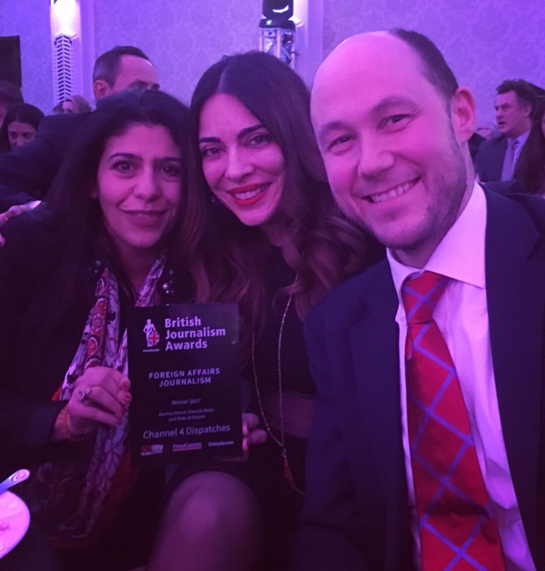 With Channel 4 commissioning editor Tom Porter and producer Mais AlBayaa.