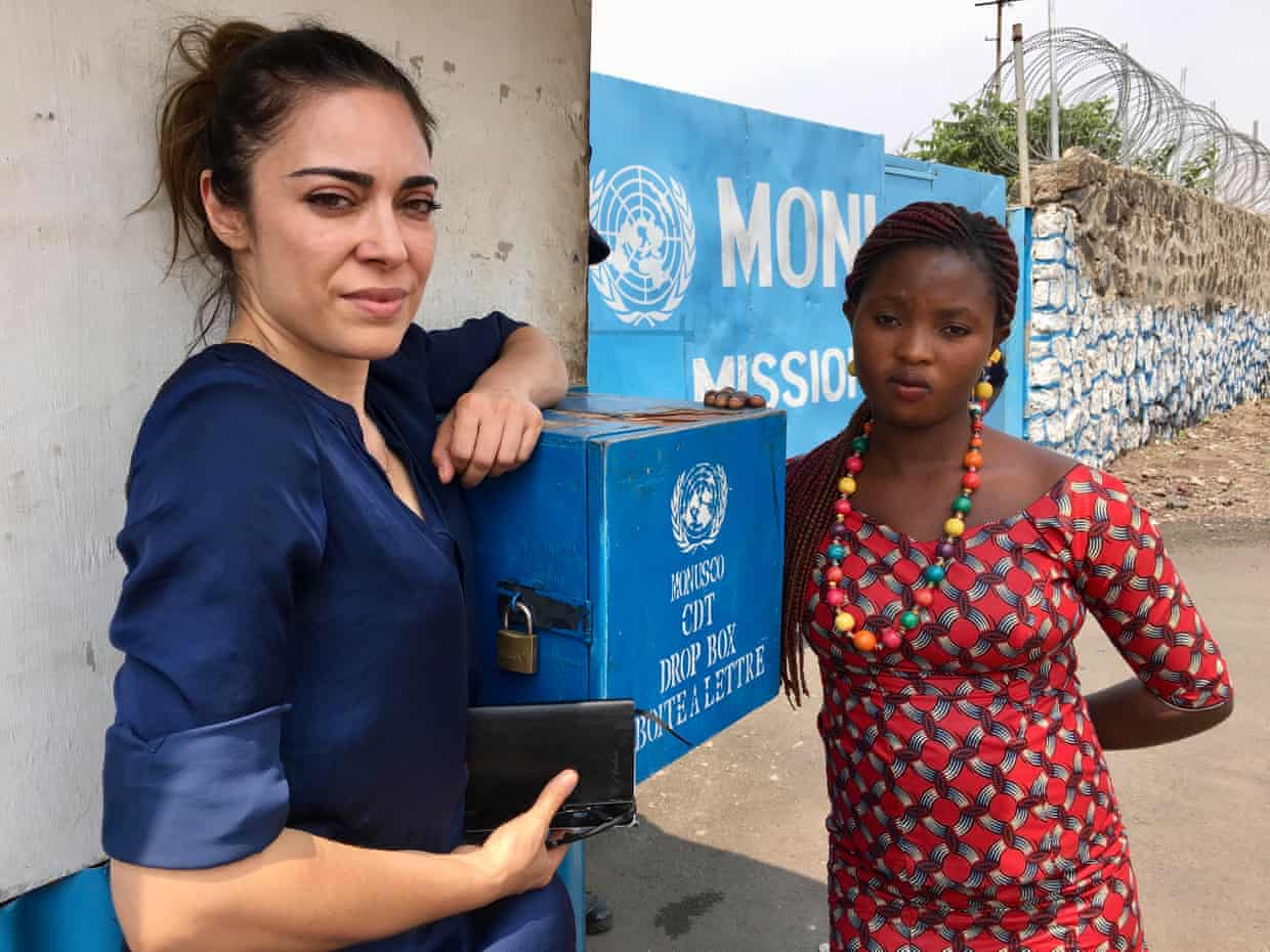 Documentary-maker Ramita Navai (left) and Francine, who says she was sexually assaulted by UN workers in the Democratic Republic of the Congo. Photograph: Channel 4