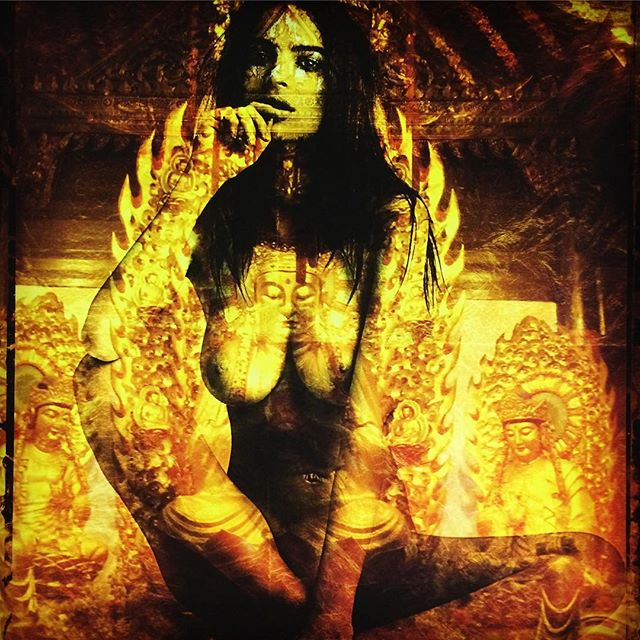 """Emily Ratajkowski China Temple a mixed media painting on wood panel 40"""" by 30"""" acrylic with gold leaf one of one original part of the FASCINASIA series by Daniel Stanford #danielstanfordart #emilyratakowski #mixedmediaart #painting #available #macayagallery #montrealartist #goldleaf #painting """" Mixed media Painting #fineart . . . #danielstanfordart #inspiration #fascinasia #collectorart #artoftheday #collected #neopopart #contemporaryart #printavailable #emergingartist #montrealartist #museumart #canadianartist #painter #china #buddha #transformativeart #zenart #macayagallery #curation #thompsonlandrygallery @emrata"""