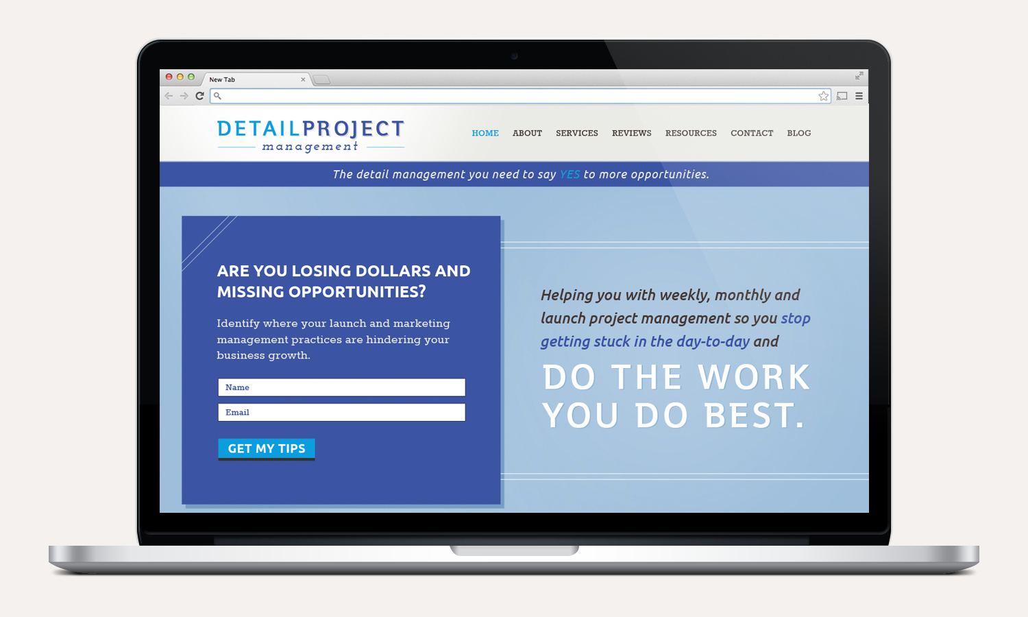 detail project website