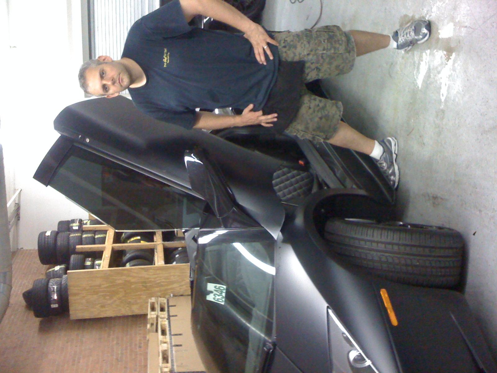 Matt Black Lamborghini Murcielago.  This one of a kind Lambo was incredible!