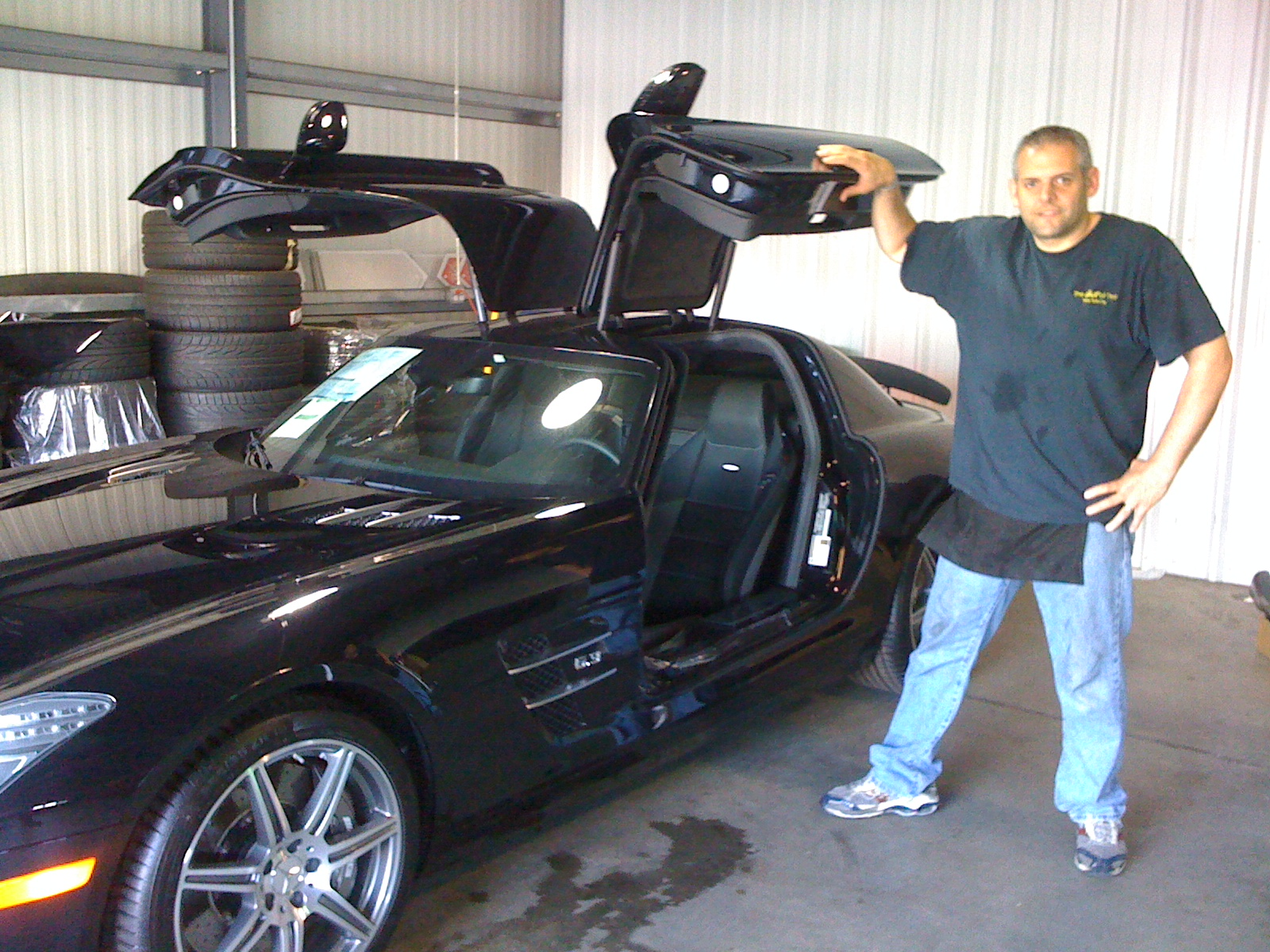 2012 Mercedes Benz SLS 63. Goldwing doors made this car a challenge to install film.
