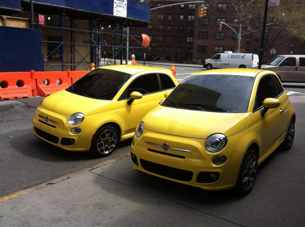 """Tinting Fiats for a television commercial.  The Fiats were tinted with 20% on all the windows to hide the drivers. The commercial is called """"The Italian Invasion"""" click to view."""