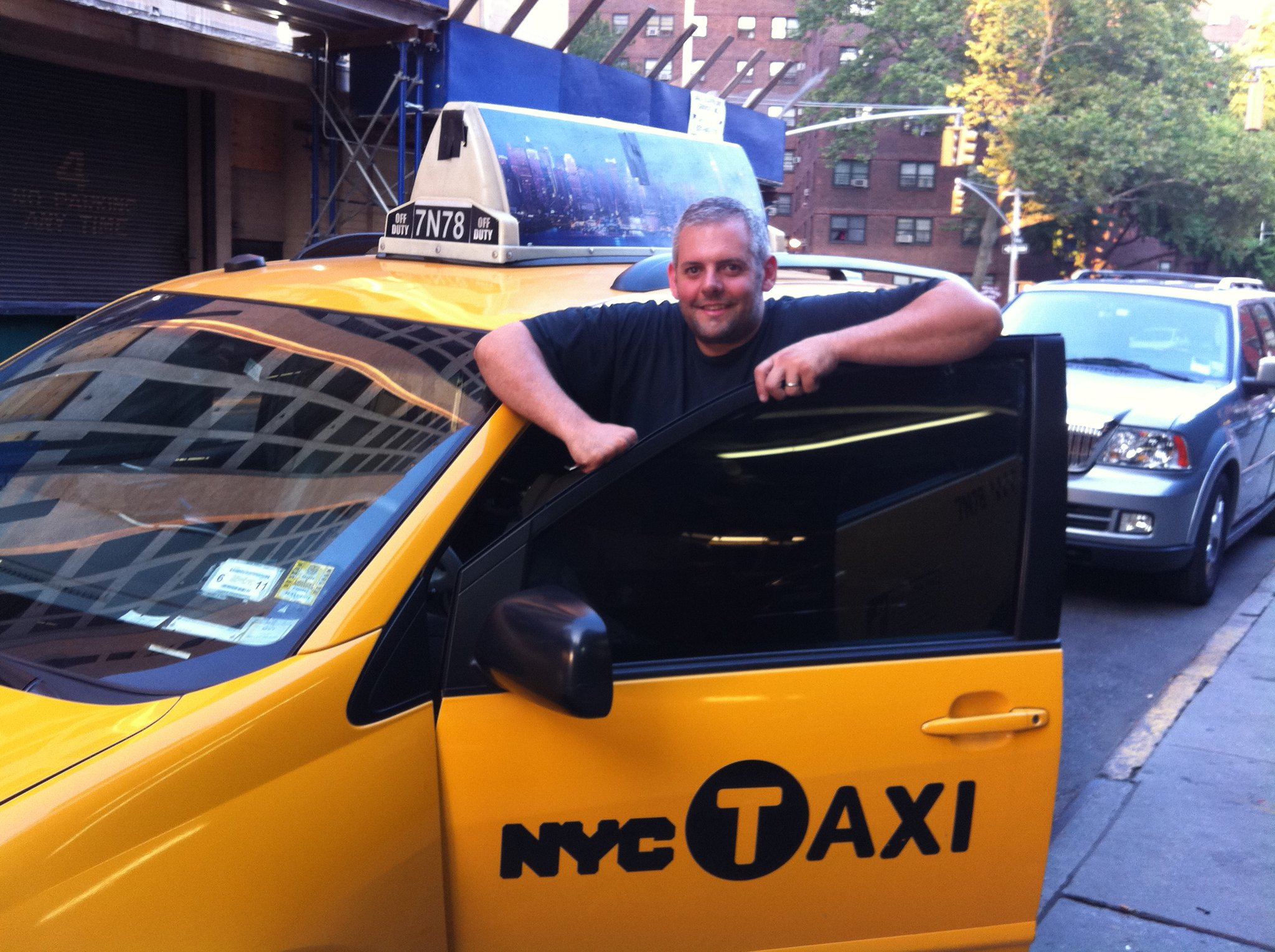 Cash Cab. Discovery channel.  I didn't get to meet Ben Bailey, but I enjoyed re-tinting the windows to make them prefect! The original tint was done on plexiglass and taped to the windows.