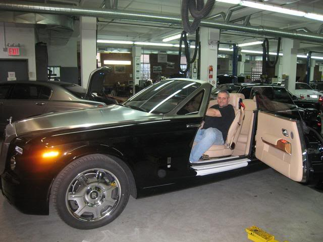"""Rolls Royce DropHead Coupe.  This car is tinted with Huper Optik Ceramic film. Click to see our exclusive """"shaving"""" technique. This enables the film to be installed with a true """"micro-edge"""""""