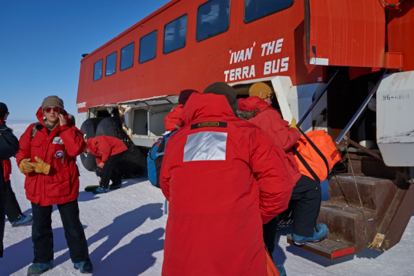 Loading up 'Ivan' the Terra Bus, who took us the rest of the way to McMurdo.