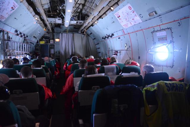 The luxurious Safair plane.curtains = toilets