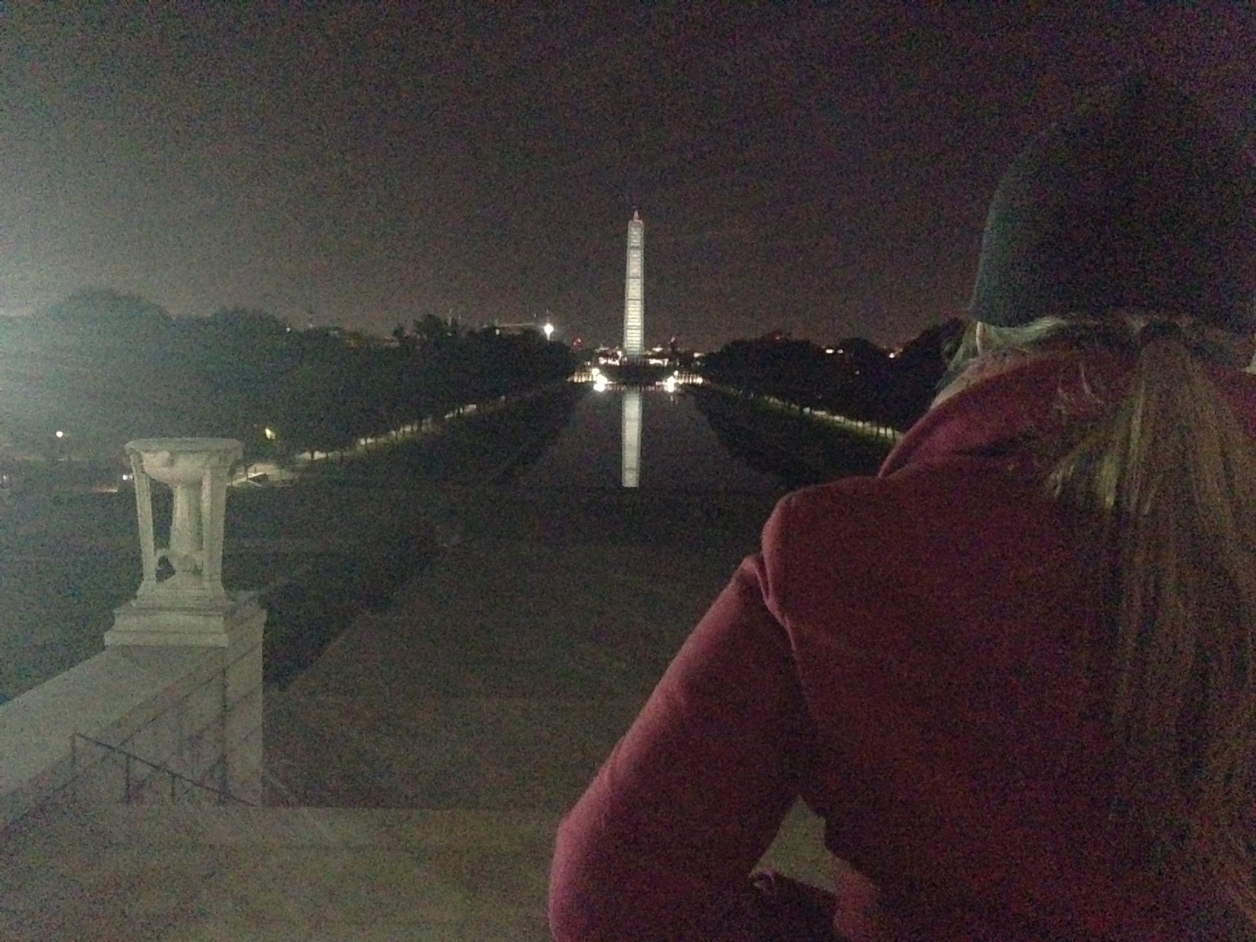 Me at the Lincoln Memorial in DC at night taking it all in how many incredible events have taken place here.