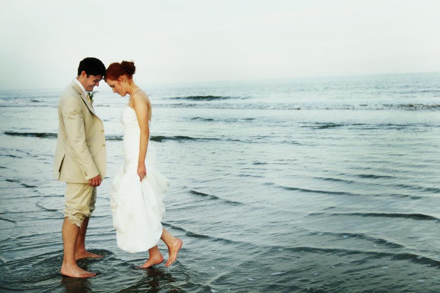 Hilton Head Wedding Couple on the Beach