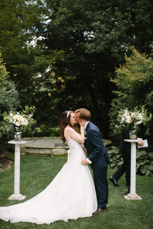 The garden ceremony kiss