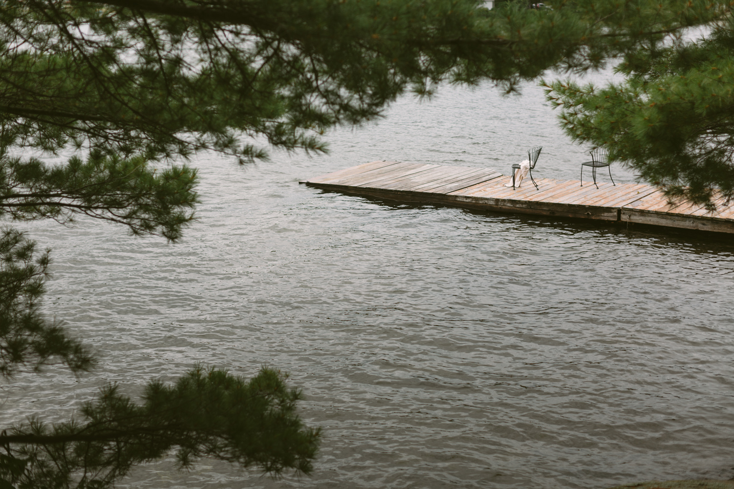 A dock over waters in Muskoka