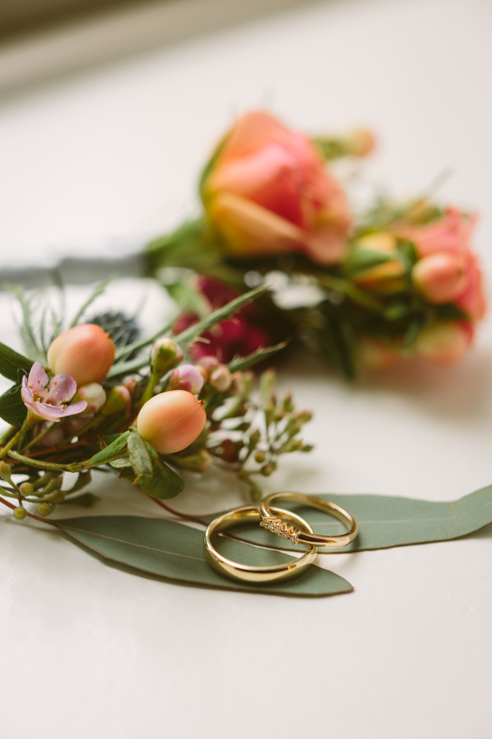 Simple thin gold wedding bands