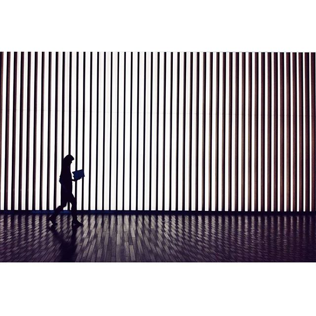 Day 315 | Stripes and a book #tokyo #stripe #thenationalartcentertokyo #国立新美術館 #reading #while #walking