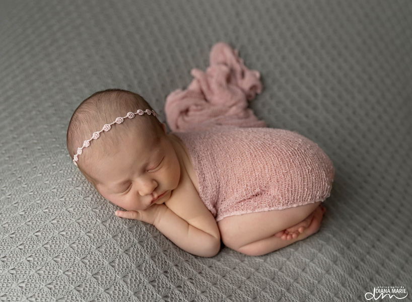 Titling/Alt Text/Description: 1. newborn photography jacksonville 2. newborn taco pose 3. bum up pose 4. newborn girl 5. baby toes 6. newborn photography