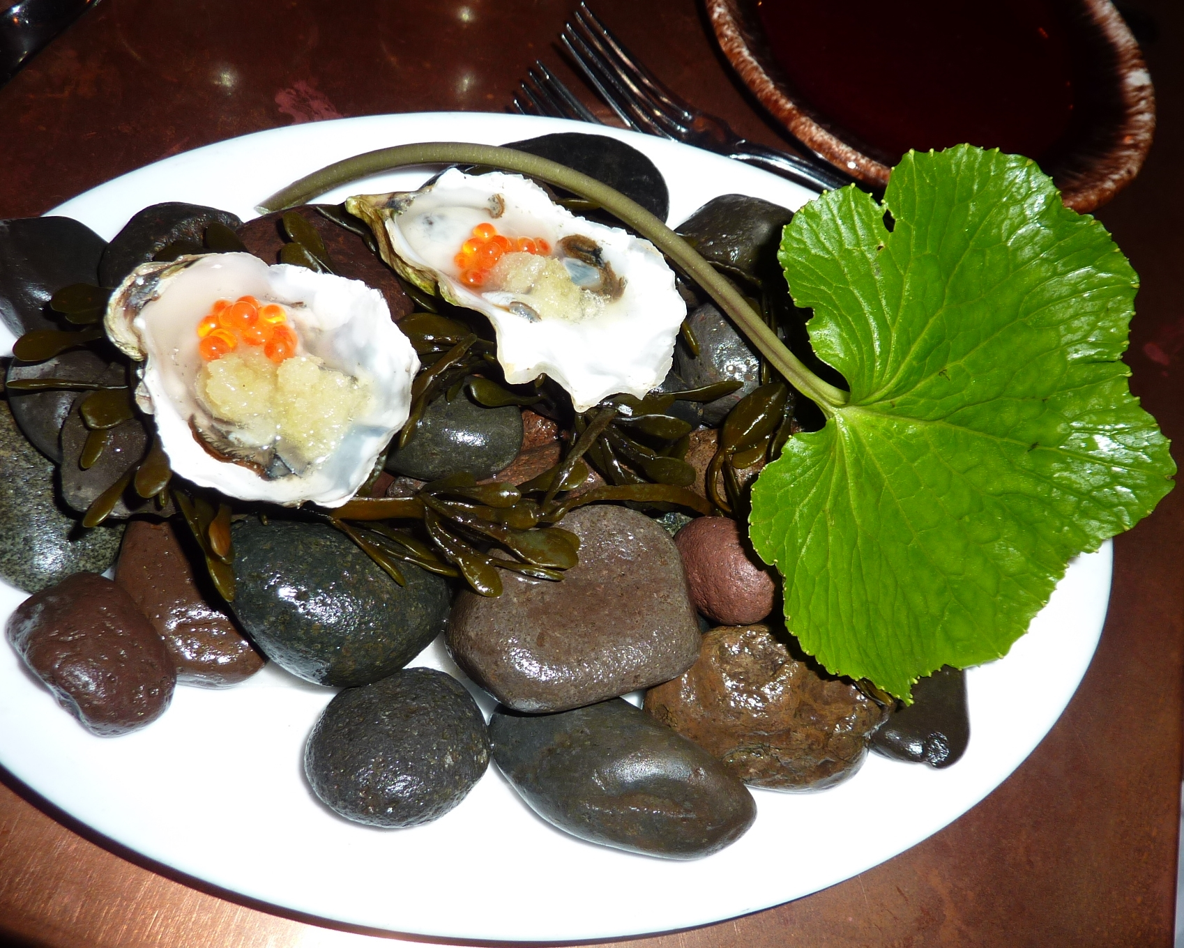 Wasabi is great with oysters.  Wasabi is used as a flavor enhancer as much as for heat.  With oysters, fresh wasabi adds a vegetal flavor that modulates the briney flavor of oysters and makes the flavor linger.   The  Dutch Restaurant in NY  paired oysters and our wasabi to great success.