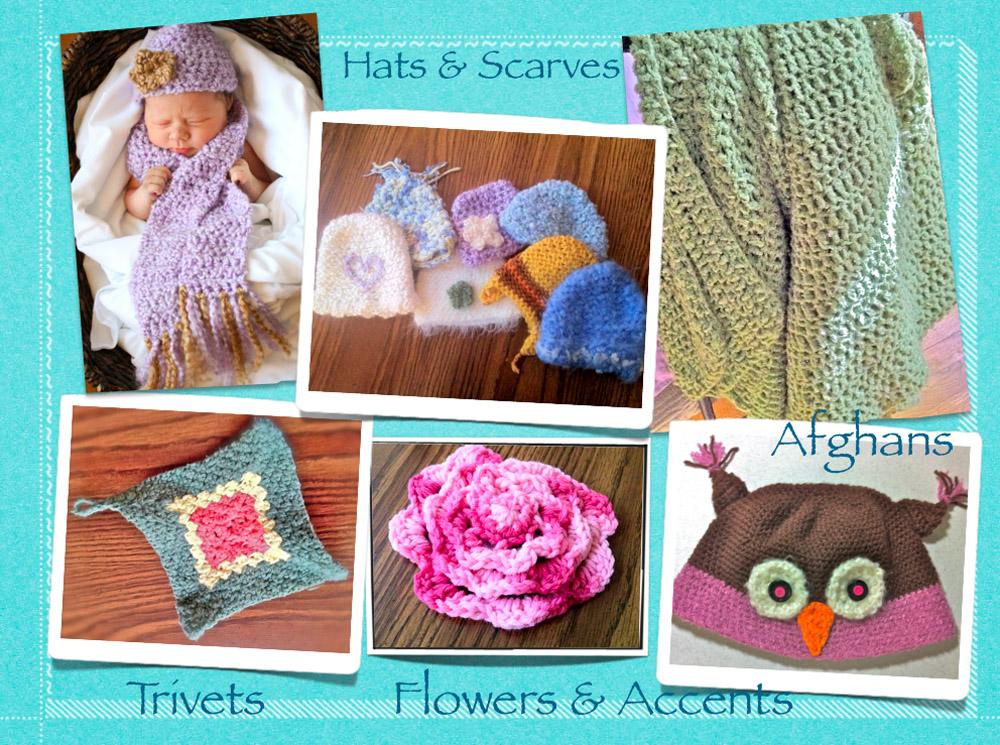 Crochet - hats, scarves, trivets, flowers, afghans.jpg