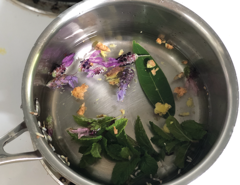 Herbs, ready to boil